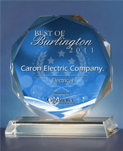 2011 Best of Burlington Electrical Award
